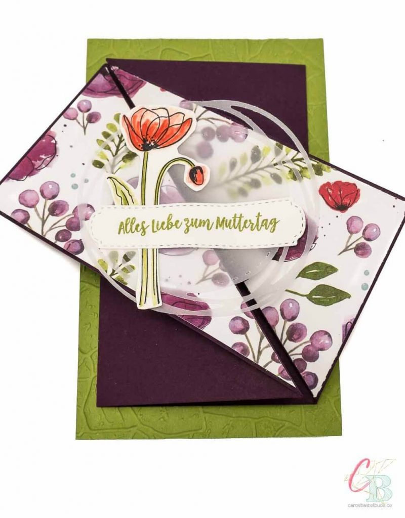 Grußkarte gestaltet mit dem Stempelset Painted Poppies von Stampin' Up!