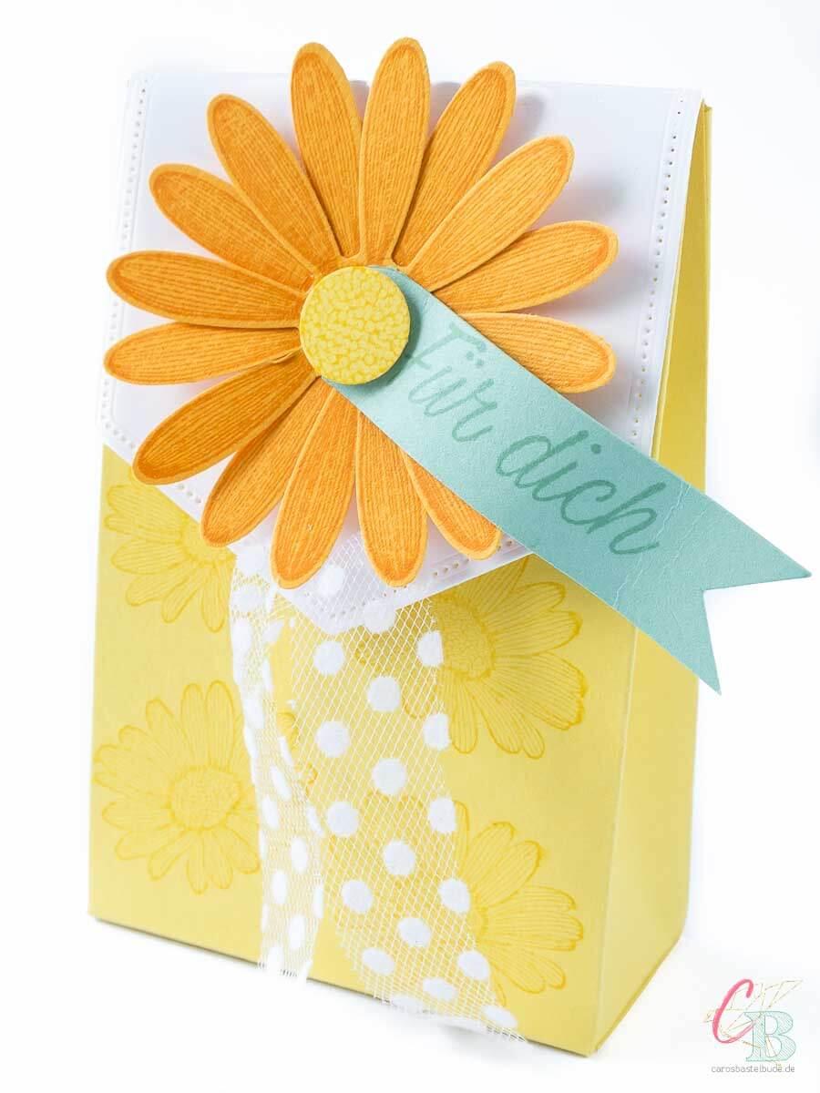 Geschenkverpackung Gänseblümchen zum Muttertag