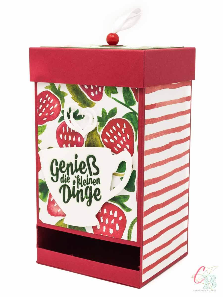 Teebox, Teebeutel-Spender als Geschenk zur Genesung