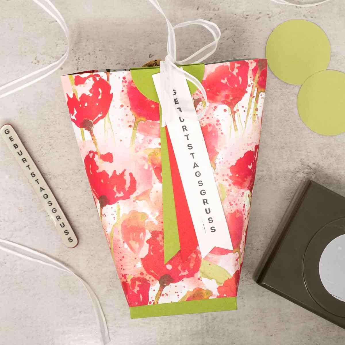 Handgemachte Geschenkidee: Bog in a Bag als Geschenkverpackung zum Geburtstag
