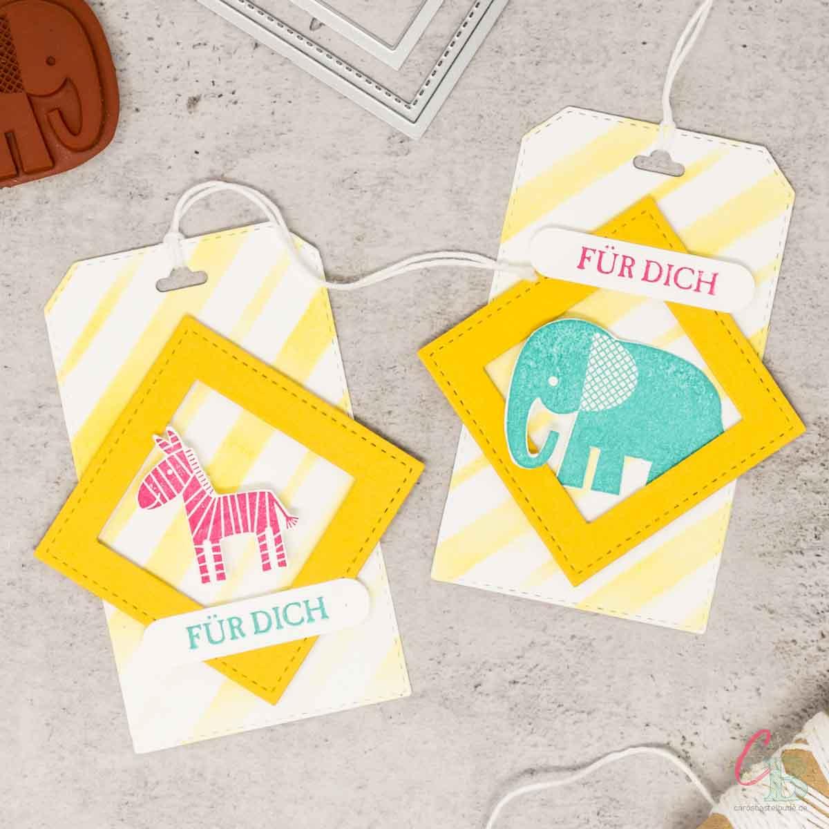 Geschenkanhänger zum Kindergeburtstag, Handgemachte Geschenkidee