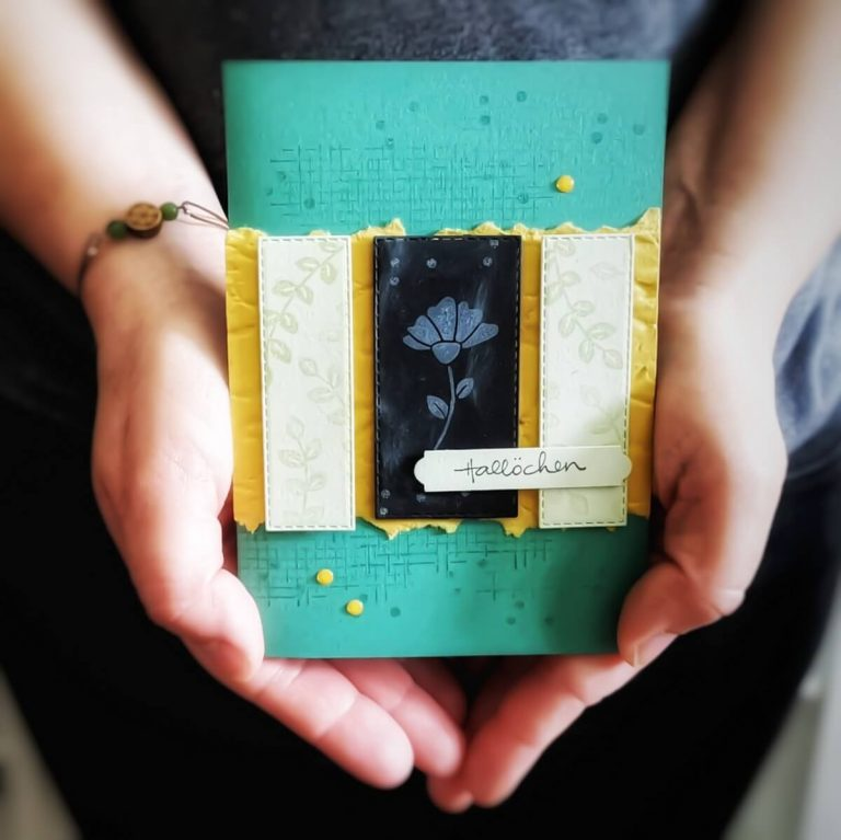 Handgemachte Grußkarte mit Produkten von Stampin'Up!