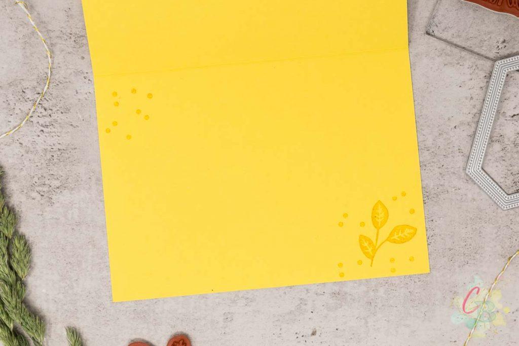 Trauerkarte gestaltet mit dem Stempelset Trost und Kraft von Stampin' Up!, Innengestaltung