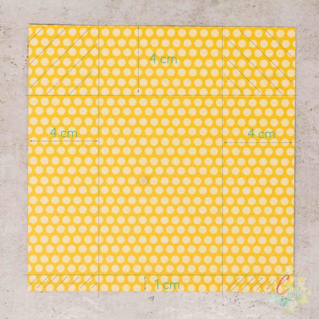 Falzanleitung für die Umschläge aus dem 6 x 6 Inch Designerpapier