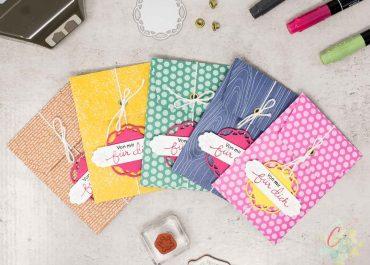 Umschläge aus 6 x 6 Inch Designerpapier für Geldgeschenke